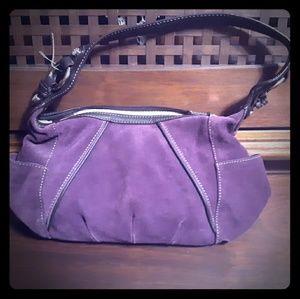 Tignanello purple suade purse